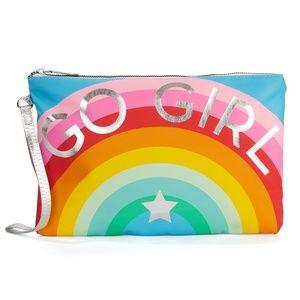 Go Girl Zip Wallet Strap Bag Rainbow